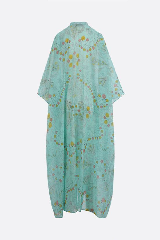 EMILIO PUCCI: seashell print cotton caftan Color Blue_2
