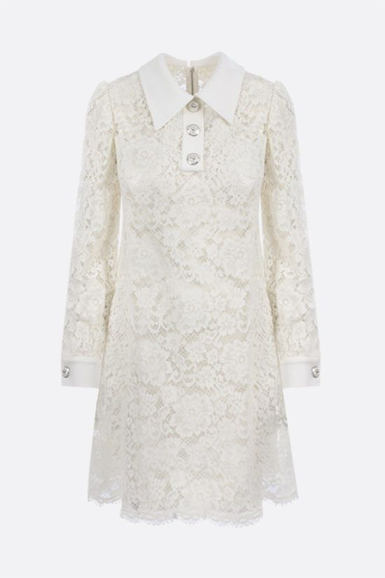 DOLCE & GABBANA: cordonetto lace short dress Color White_1