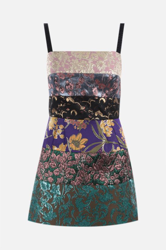 DOLCE & GABBANA: patchwork brocade minidress Color Multicolor_1