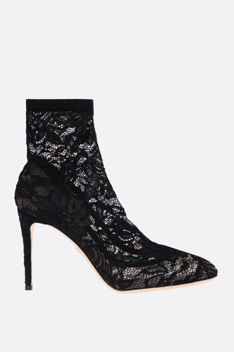 DOLCE & GABBANA: Bette ankle boots in Taormina lace Color Black_1