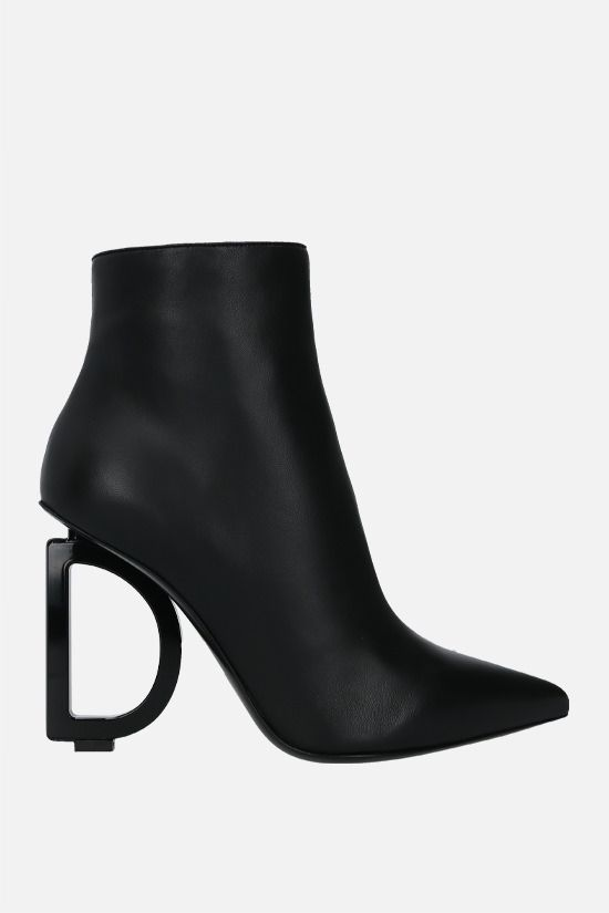 DOLCE & GABBANA: Devotion soft nappa ankle boots Color Black_1