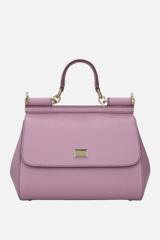 DOLCE & GABBANA: Sicily medium smooth leather handbag Color Pink_1