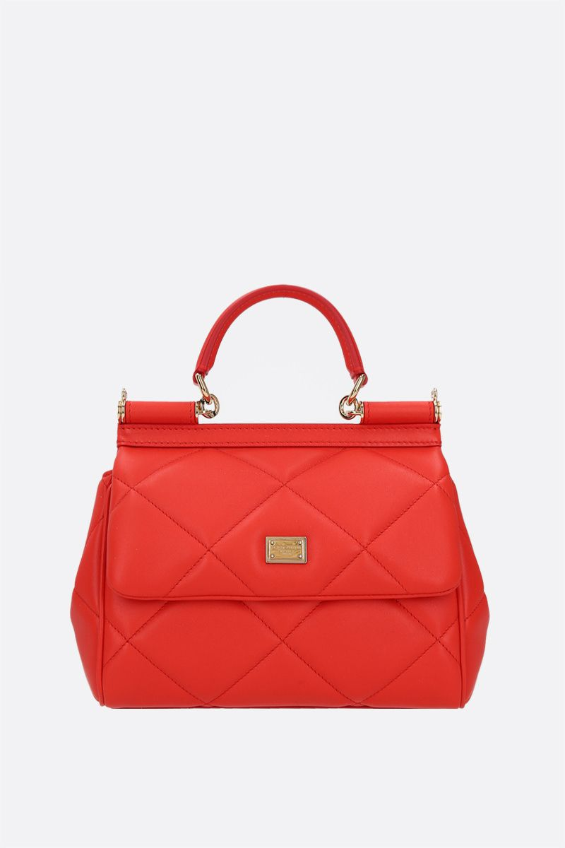DOLCE & GABBANA: Sicily small quilted leather shoulder bag_1