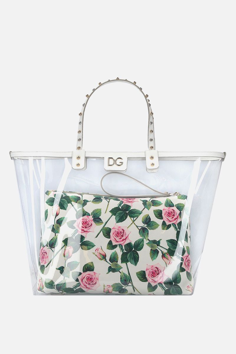 DOLCE & GABBANA: Beatrice shopping bag in PVC and Dauphine leather_1