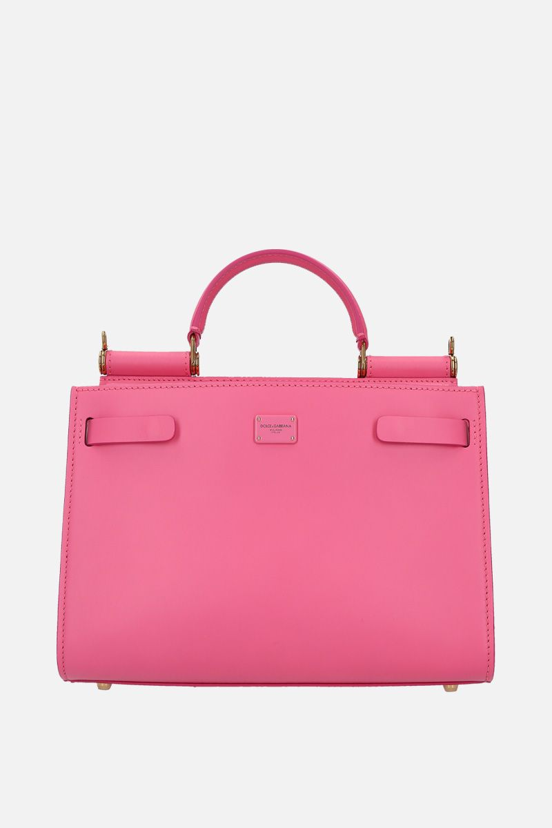 DOLCE & GABBANA: Sicily 62 small top handle bag in smooth leather Color Pink_1