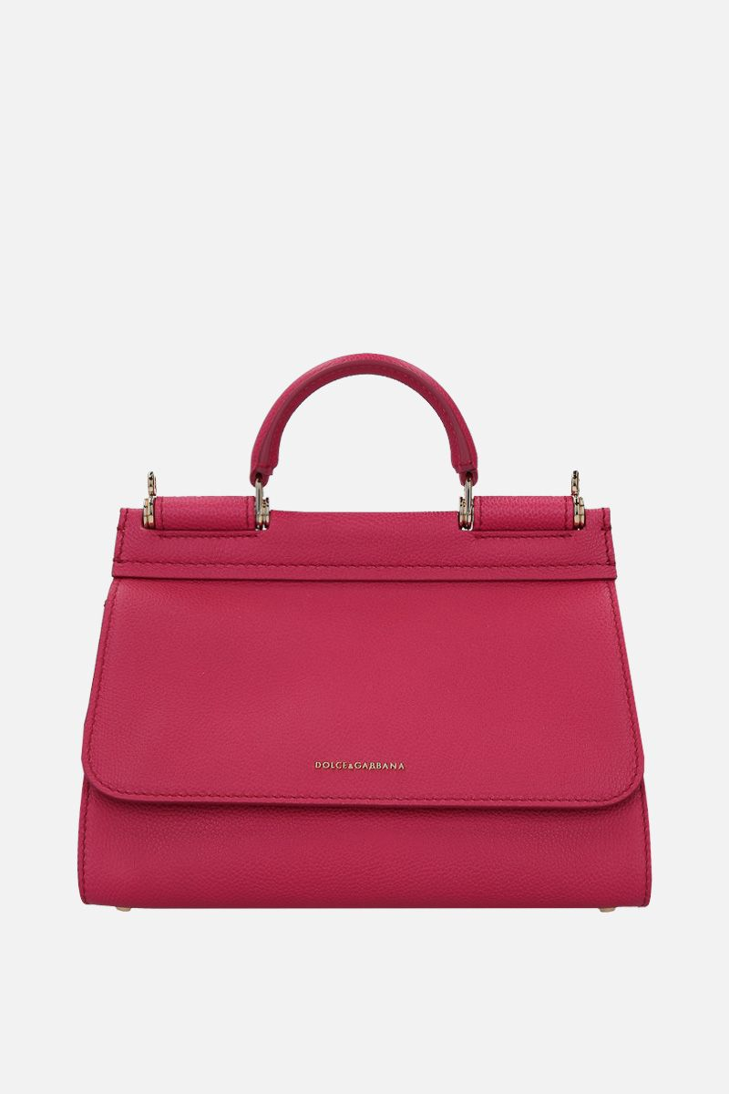 DOLCE & GABBANA: Sicily Soft small handbag in grainy leather Color Pink_1