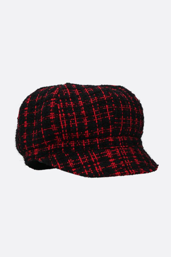 DOLCE & GABBANA: DG-detailed tweed baker boy cap Color Black_2