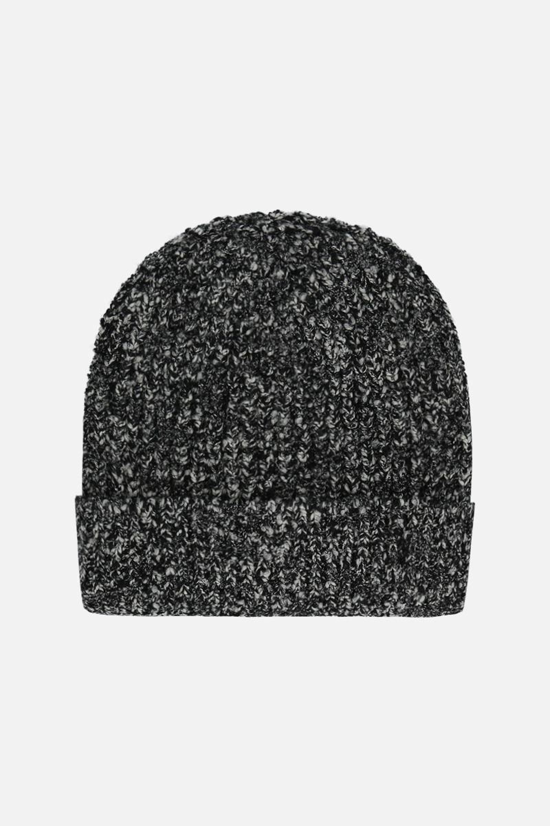 DOLCE & GABBANA: melange wool blend beanie Color White_2