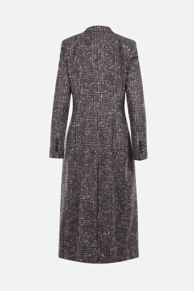 DOLCE & GABBANA: prince of Wales wool blend double-breasted coat_2