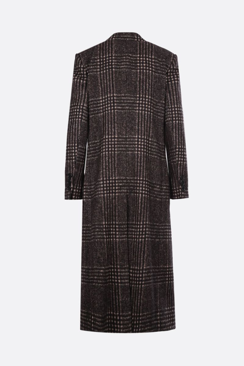 DOLCE & GABBANA: prince of Wales wool blend single-breasted coat_2