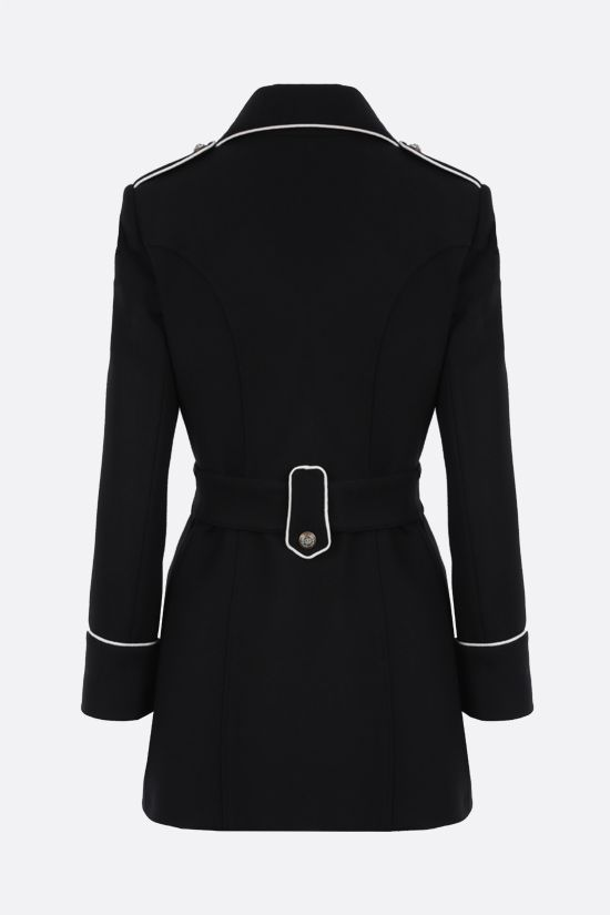 DOLCE & GABBANA: double-breasted wool coat with heraldic buttons Color Black_2