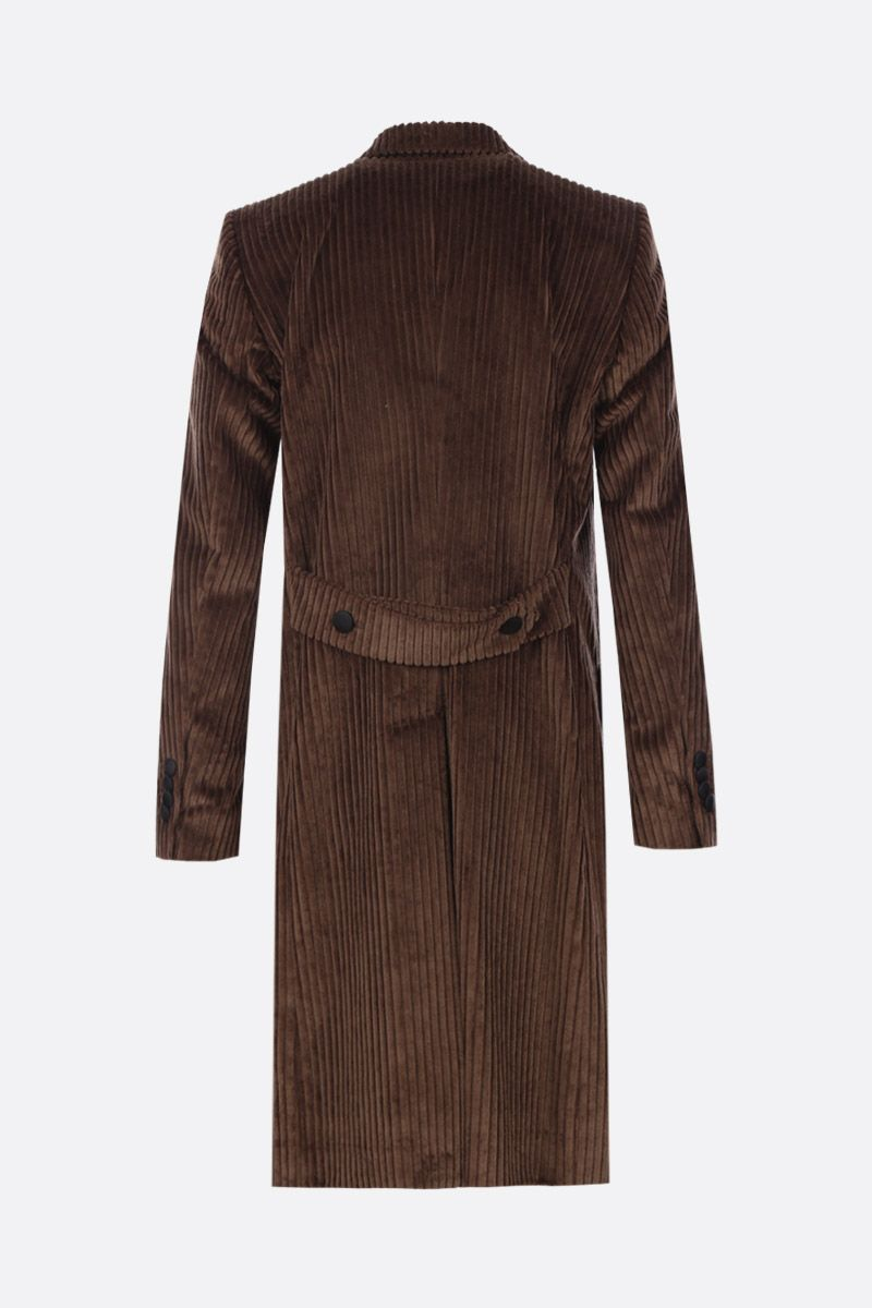 DOLCE & GABBANA: soft velvet double-breasted coat Color Brown_2