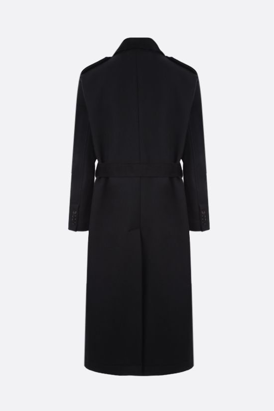 DOLCE & GABBANA: double-breasted wool blend coat Color Black_2