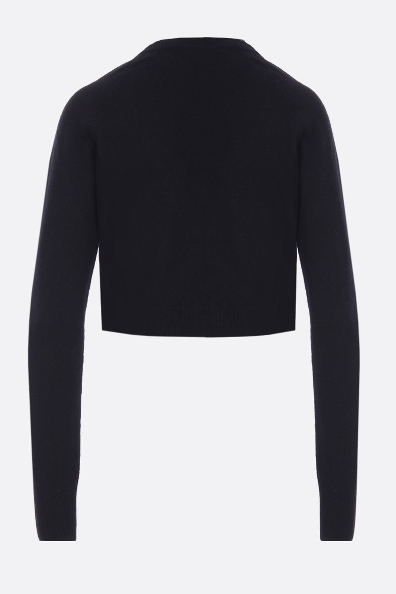 DOLCE & GABBANA: cashmere cropped cardigan Color Black_2