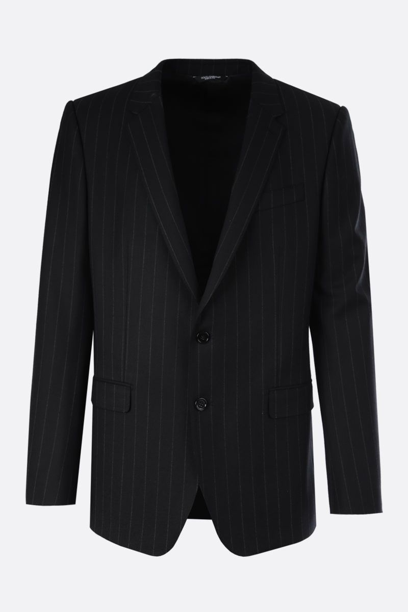 DOLCE & GABBANA: Martini pinstriped wool blend two-pieces suit Color Grey_3