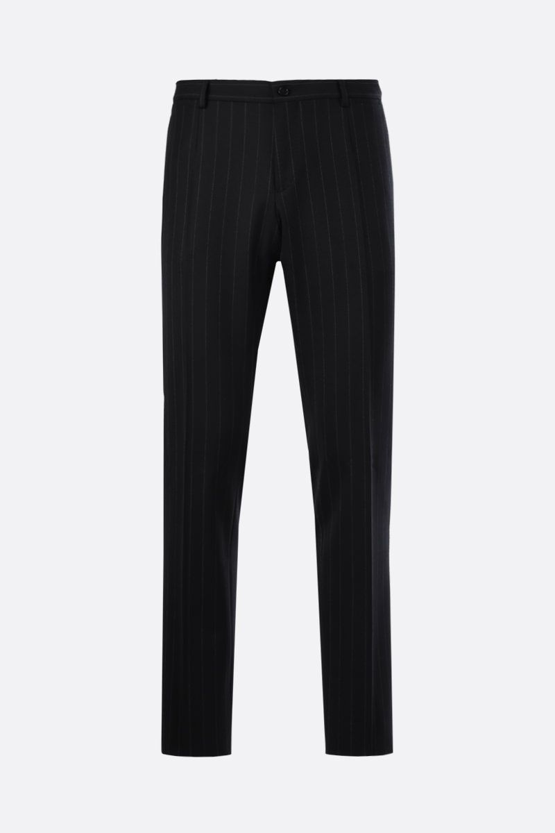 DOLCE & GABBANA: Martini pinstriped wool blend two-pieces suit Color Grey_5