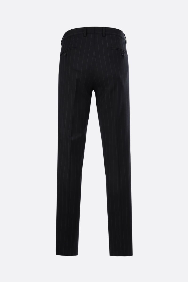 DOLCE & GABBANA: Martini pinstriped wool blend two-pieces suit Color Grey_6