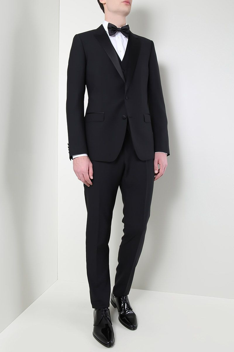 DOLCE & GABBANA: lightweight wool tuxedo suit Color Black_2