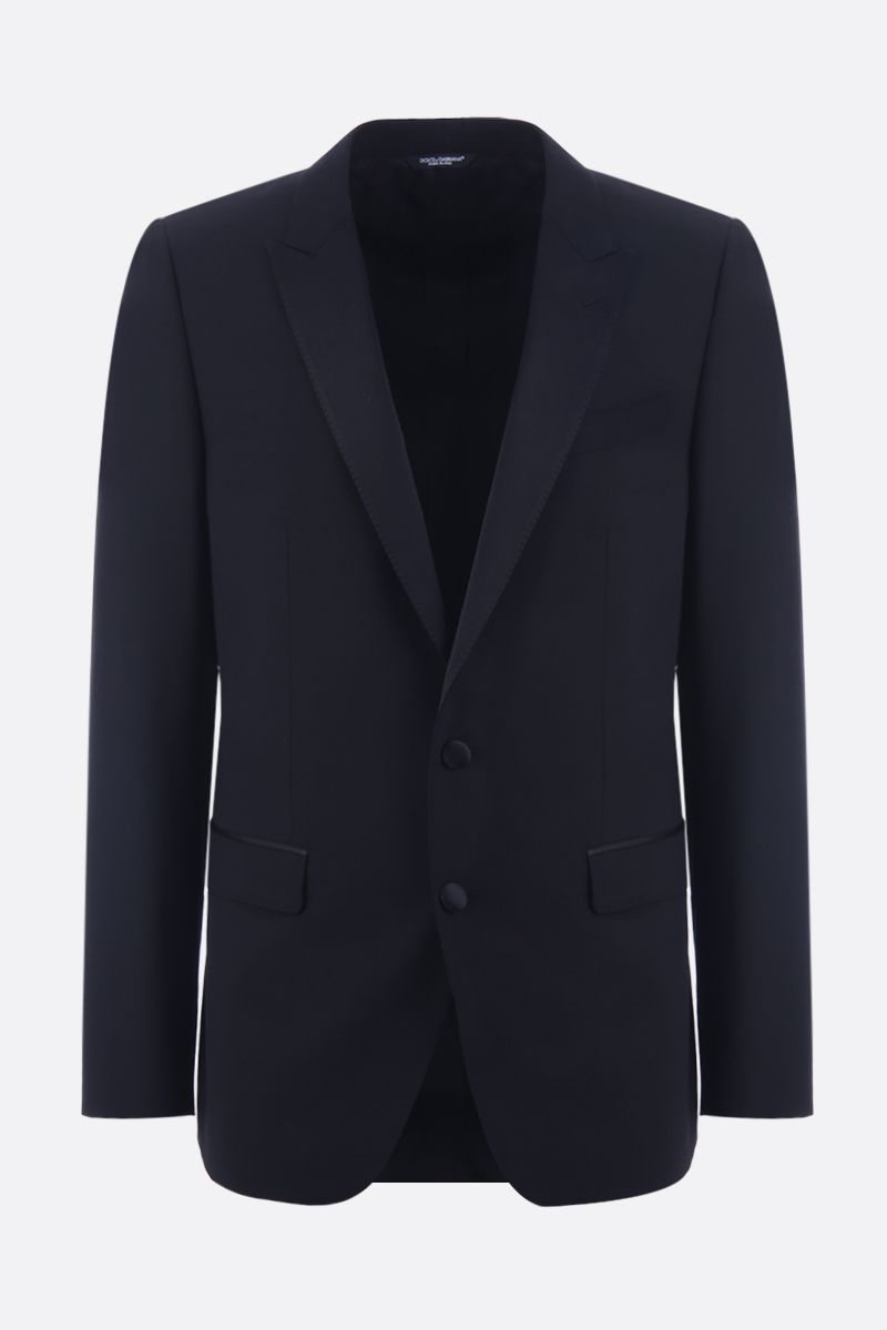 DOLCE & GABBANA: lightweight wool tuxedo suit Color Black_4