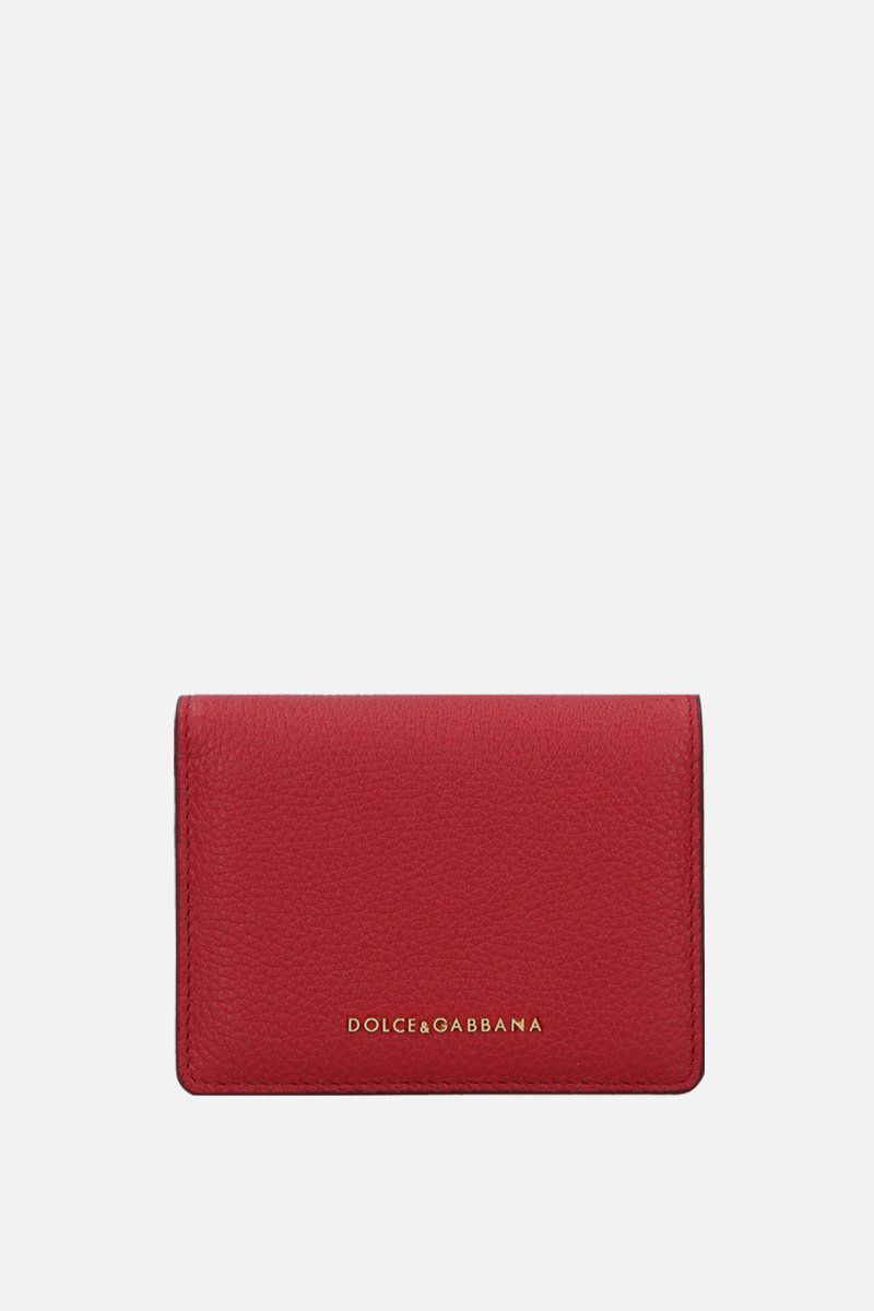 DOLCE & GABBANA: grainy leather flap wallet Color Red_1