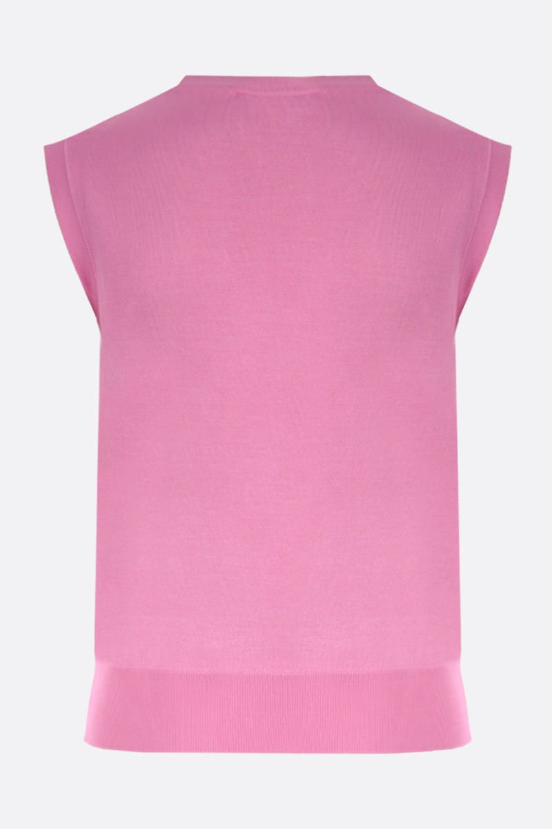 DOLCE & GABBANA: silk sleeveless pullover Color Pink_2