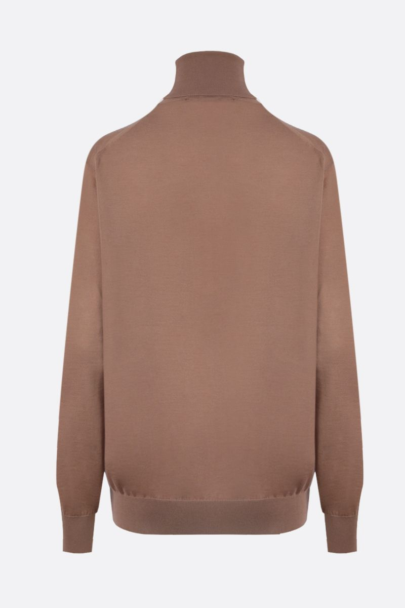 DOLCE & GABBANA: cashmere turtlemeck Color Brown_2