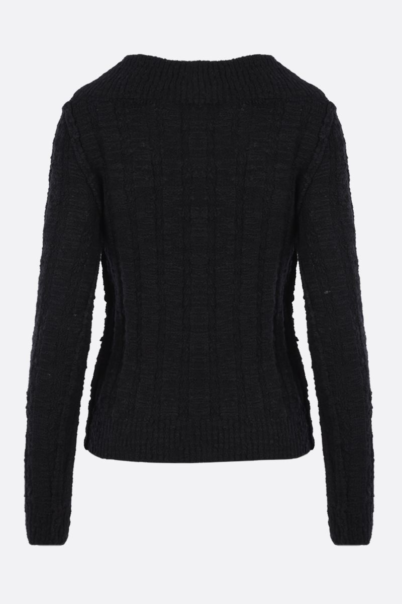 DOLCE & GABBANA: wool blend pullover Color Black_2