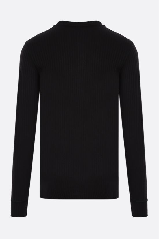 DOLCE & GABBANA: viscose blend ribbed-knit pullover Color Black_2