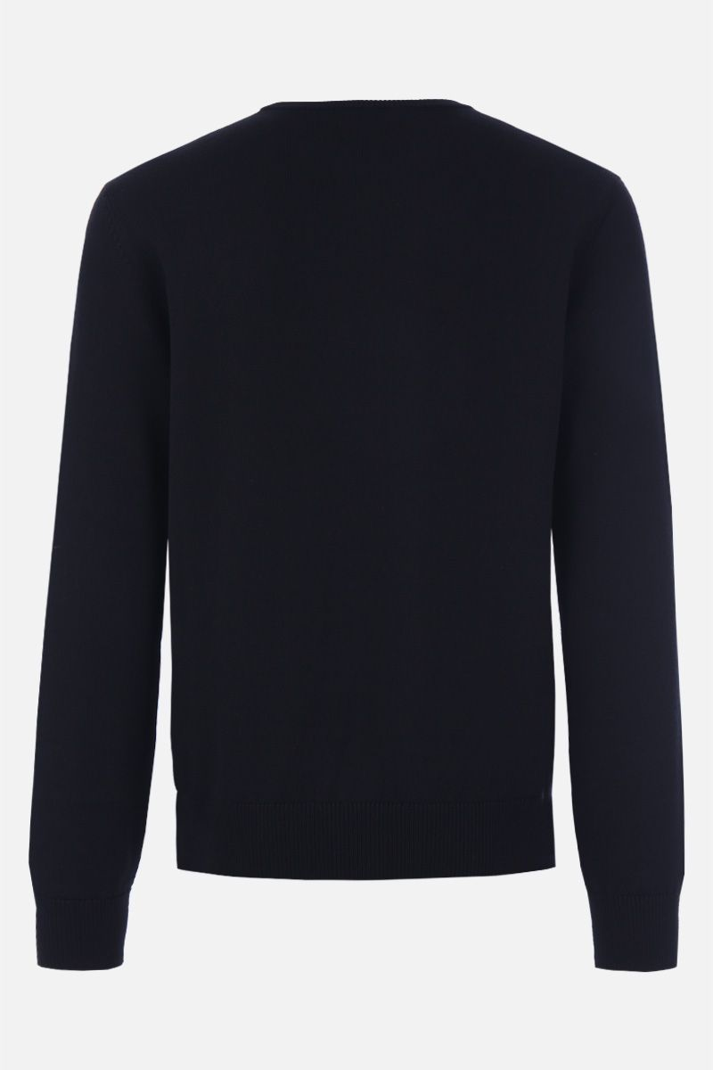 DOLCE & GABBANA: Dolce & Gabbana King embroidered wool pullover Color Black_2