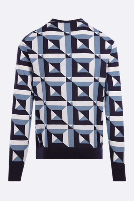 DOLCE & GABBANA: geometric-motif inlaid silk pullover Color Multicolor_2