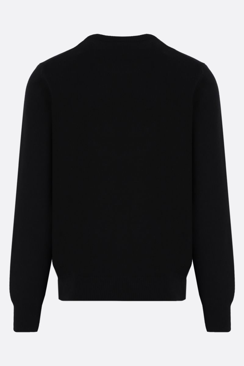 DOLCE & GABBANA: D&G intarsia wool cashmere blend pullover Color Black_2