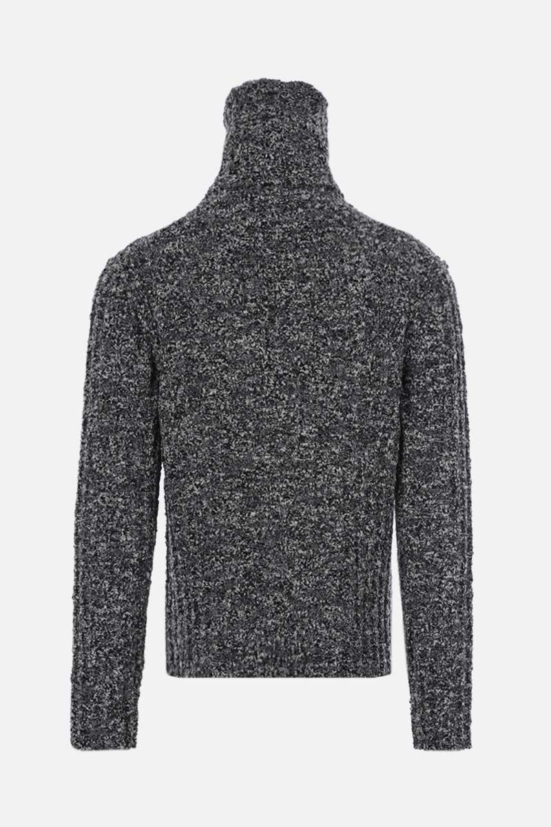 DOLCE & GABBANA: moulinè wool ribbed-knit turtleneck Color White_2