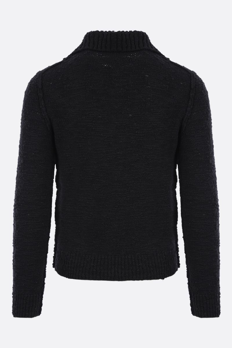 DOLCE & GABBANA: distressed-effect wool blend pullover Color Black_2
