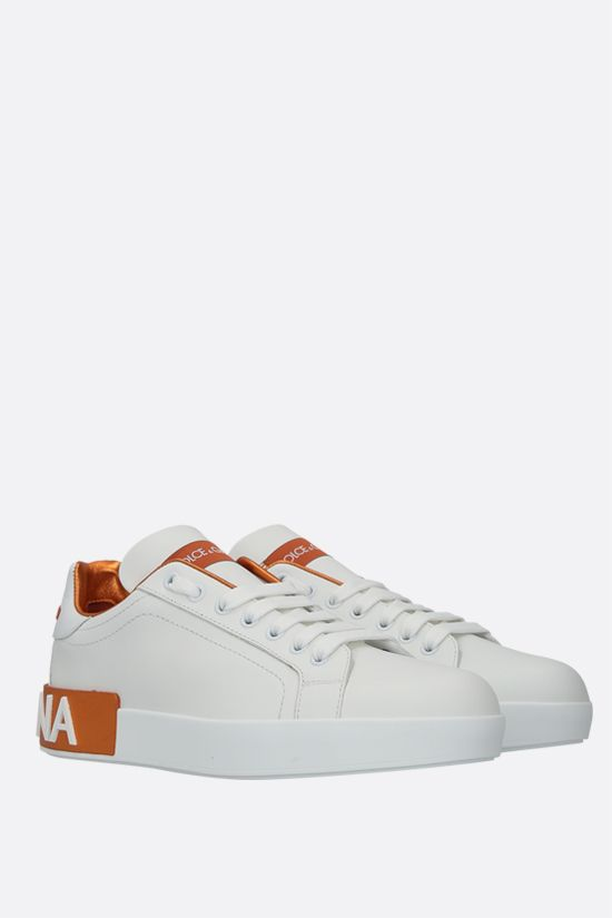 DOLCE & GABBANA: Portofino calf nappa sneakers Color Orange_2
