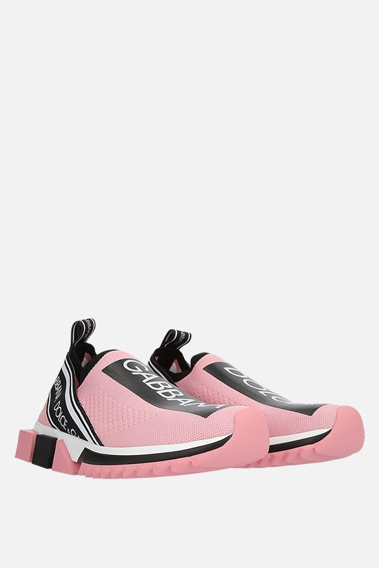 DOLCE & GABBANA: Sorrento stretch knit sneakers Color Pink_2