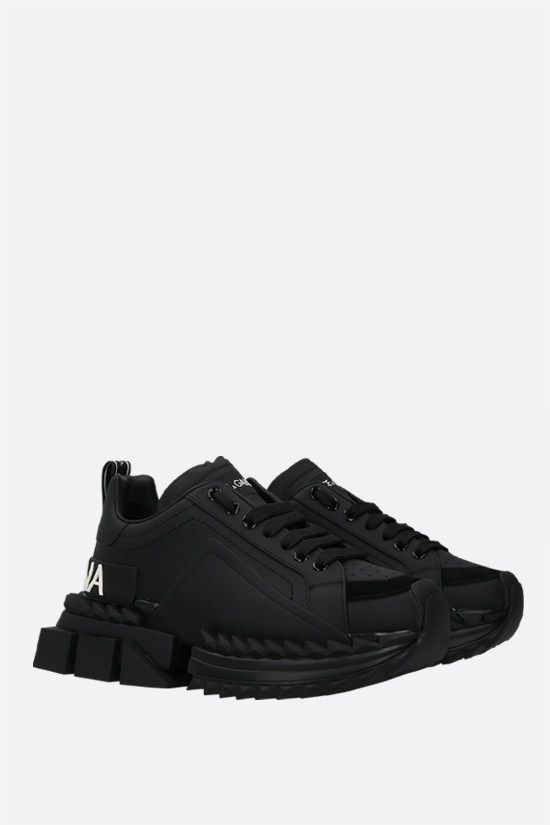 DOLCE & GABBANA: Super Queen calf nappa sneakers Color Black_2