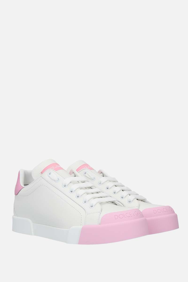 DOLCE & GABBANA: Portofino calf nappa sneakers Color White_2