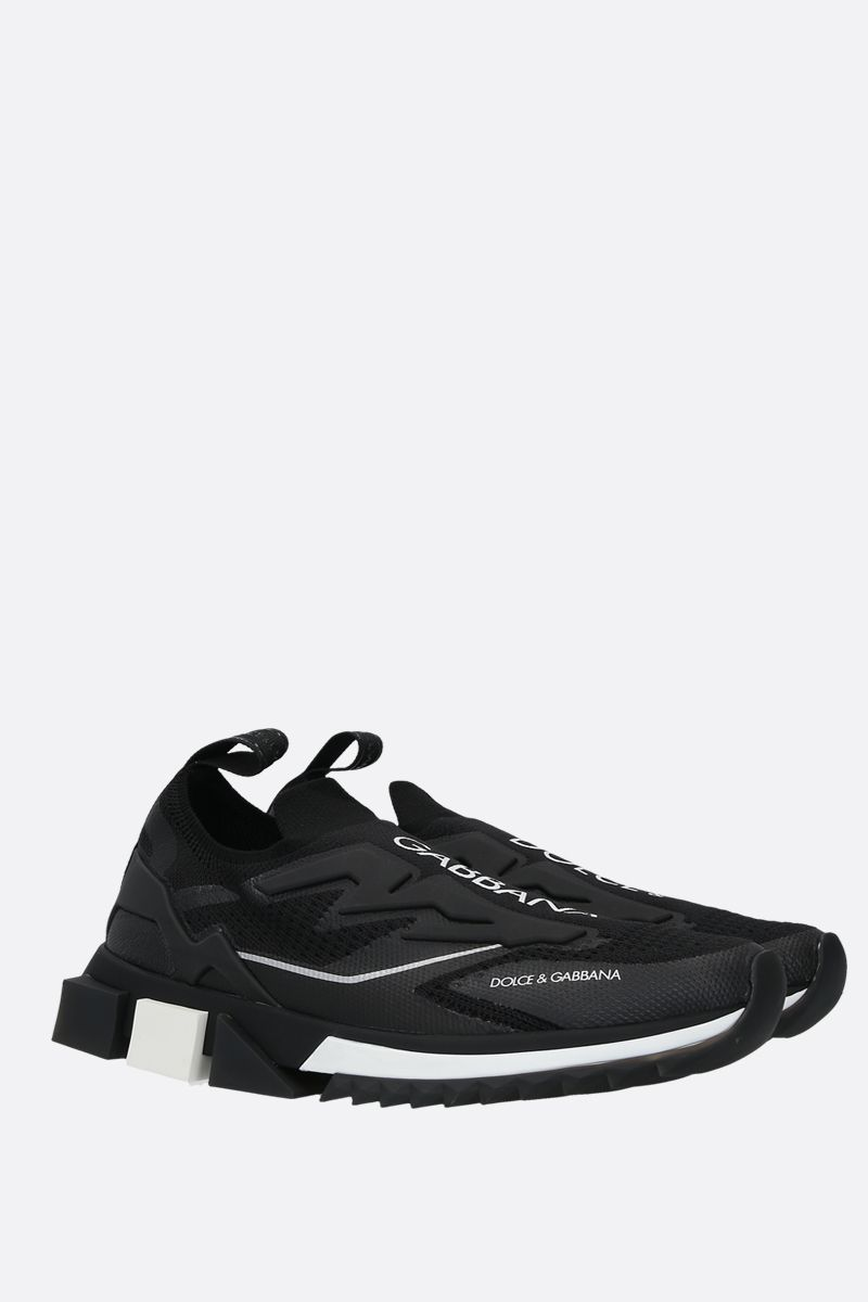 DOLCE & GABBANA: Sorrento stretch jersey sneakers Color Black_2