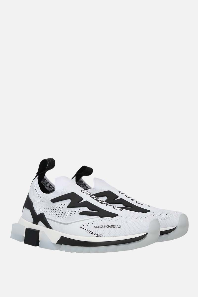 DOLCE & GABBANA: Sorrento stretch jersey sneakers Color Grey_2
