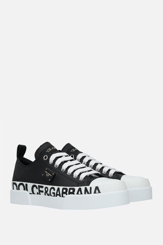 DOLCE & GABBANA: Portofino Light smooth leather sneakers Color Black_2