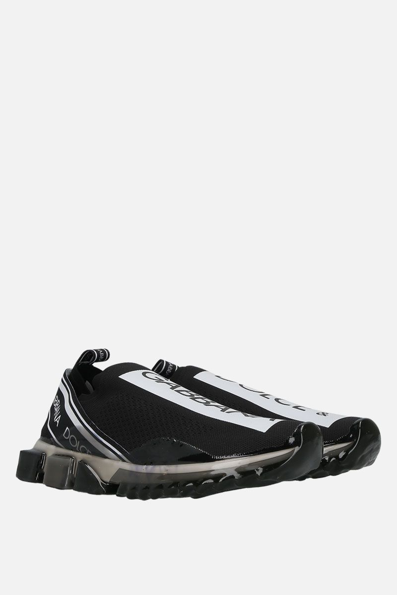 DOLCE & GABBANA: Sorrento Melt stretch knit sneakers Color Black_2
