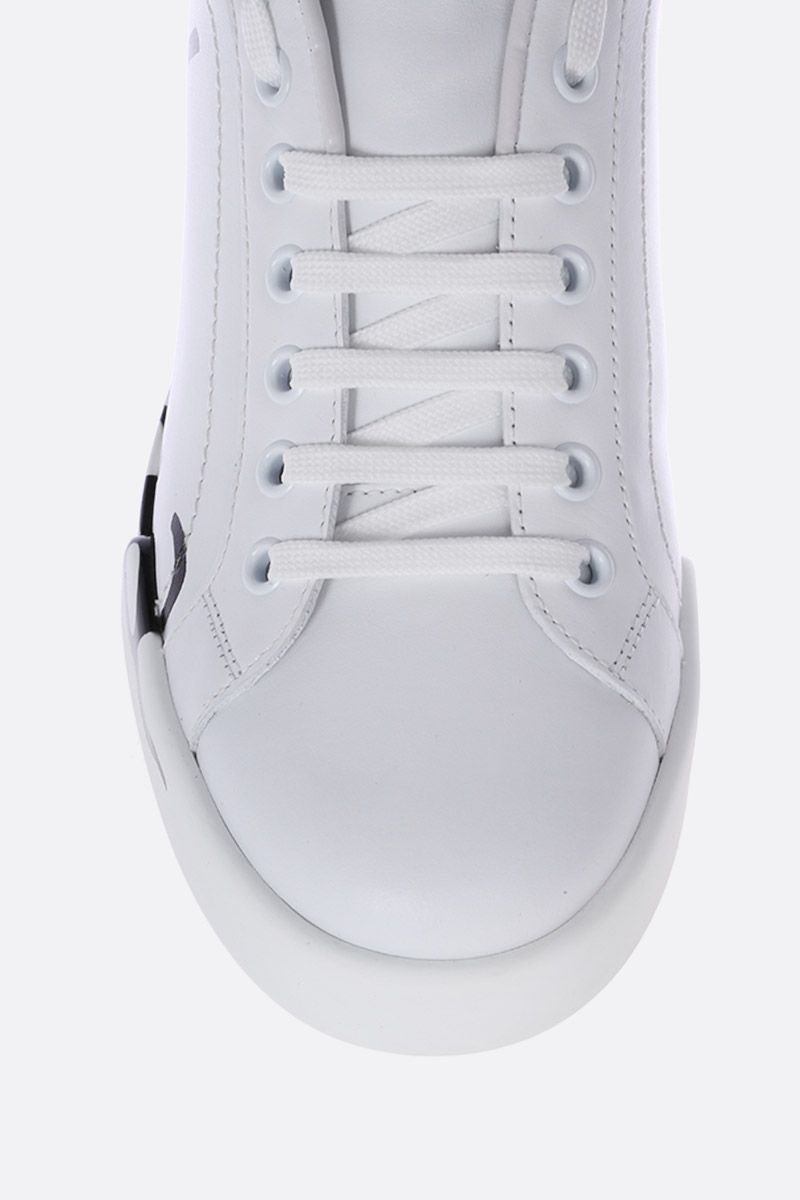 DOLCE & GABBANA: Portofino sneakers in smooth and patent leather Color White_5