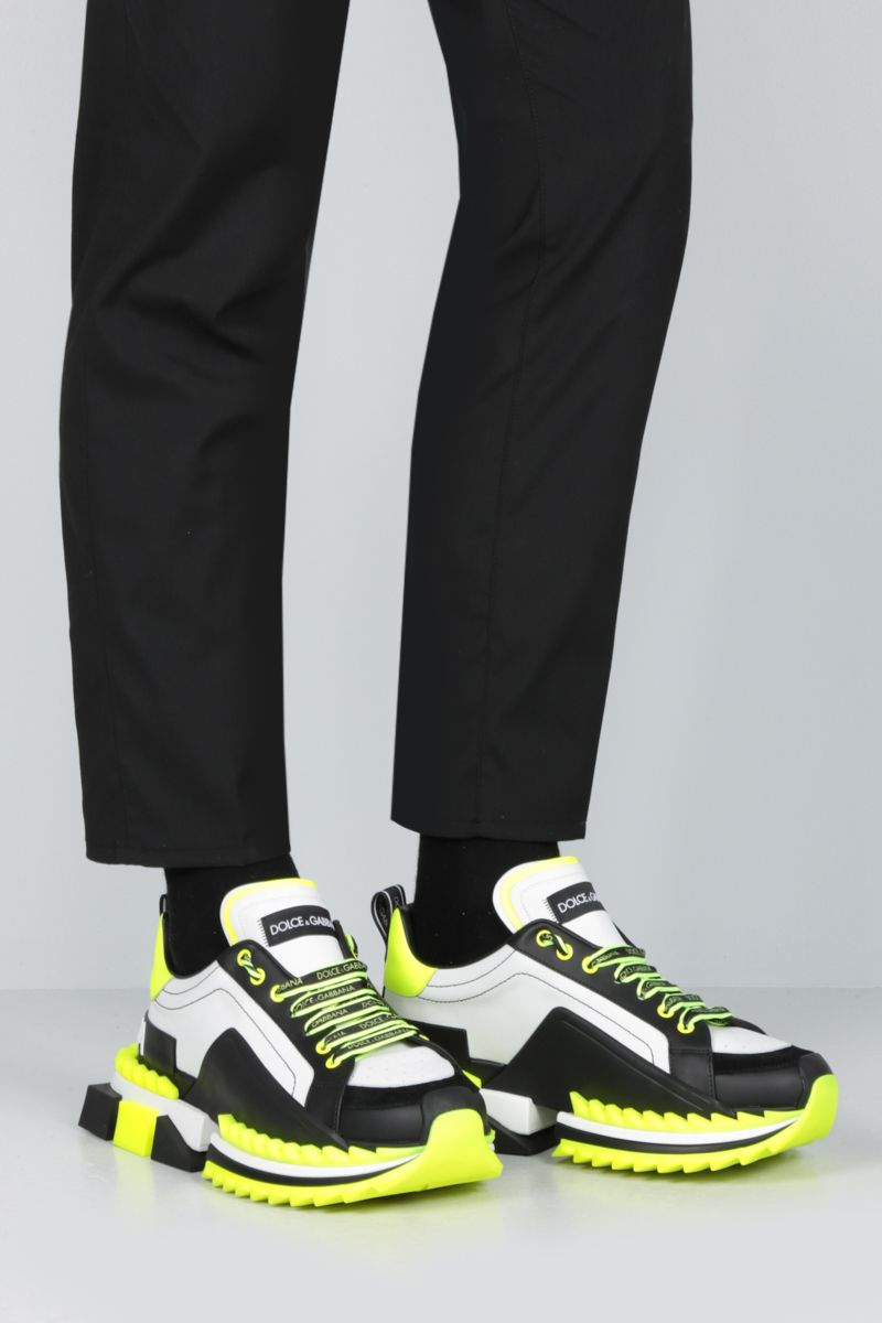 DOLCE & GABBANA: Super King sneakers in calf nappa and suede Color Multicolor_2