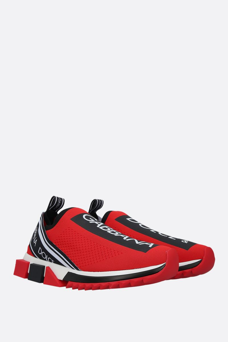 DOLCE & GABBANA: Sorrento stretch knit sneakers Color Black_2