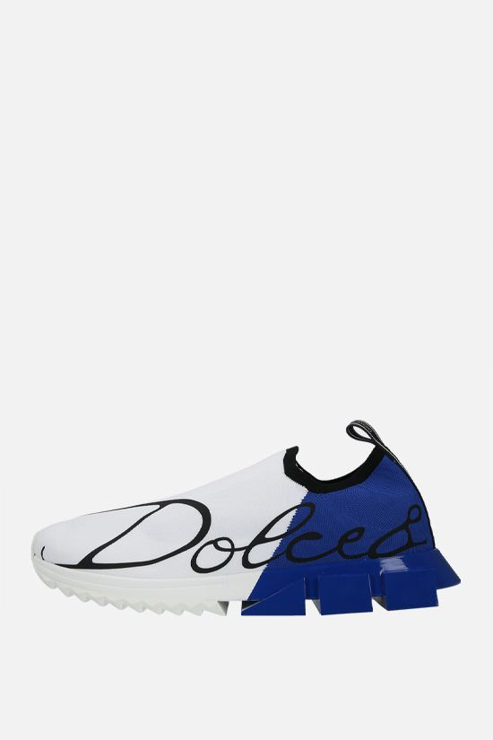 DOLCE & GABBANA: Sorrento stretch knit sneakers Color White_2