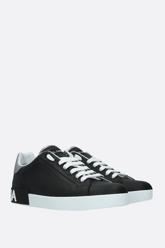 DOLCE & GABBANA: Portofino calf nappa sneakers Color Black_2