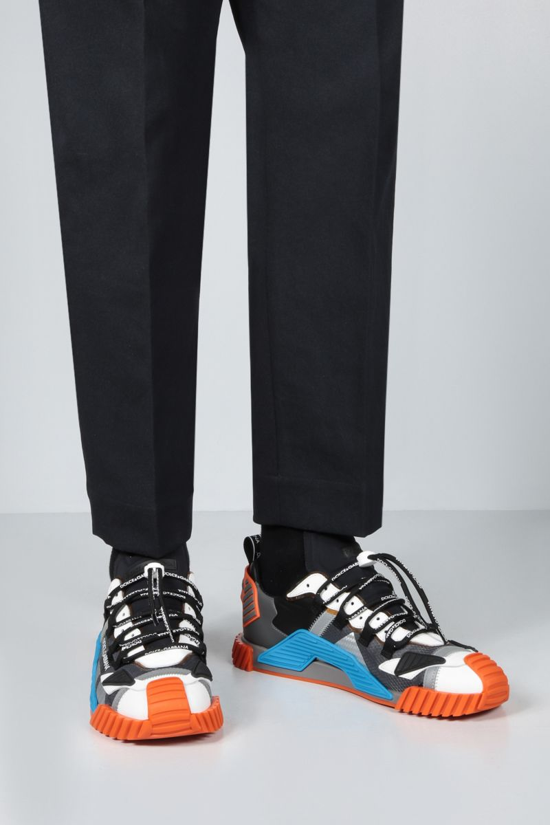DOLCE & GABBANA: NS1 sneakers in a mix of materials Color Multicolor_2