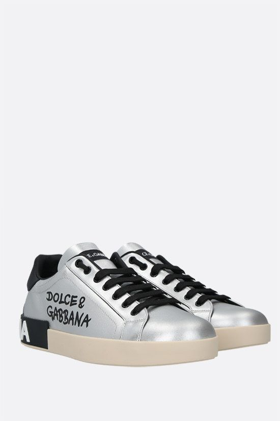 DOLCE & GABBANA: Portofino laminated leather sneakers_2