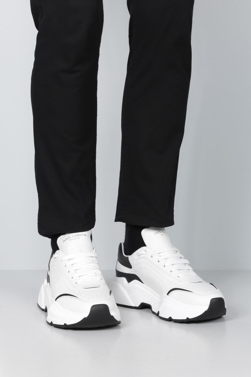 DOLCE & GABBANA: Daymaster bicolour calf nappa sneakers Color White_2