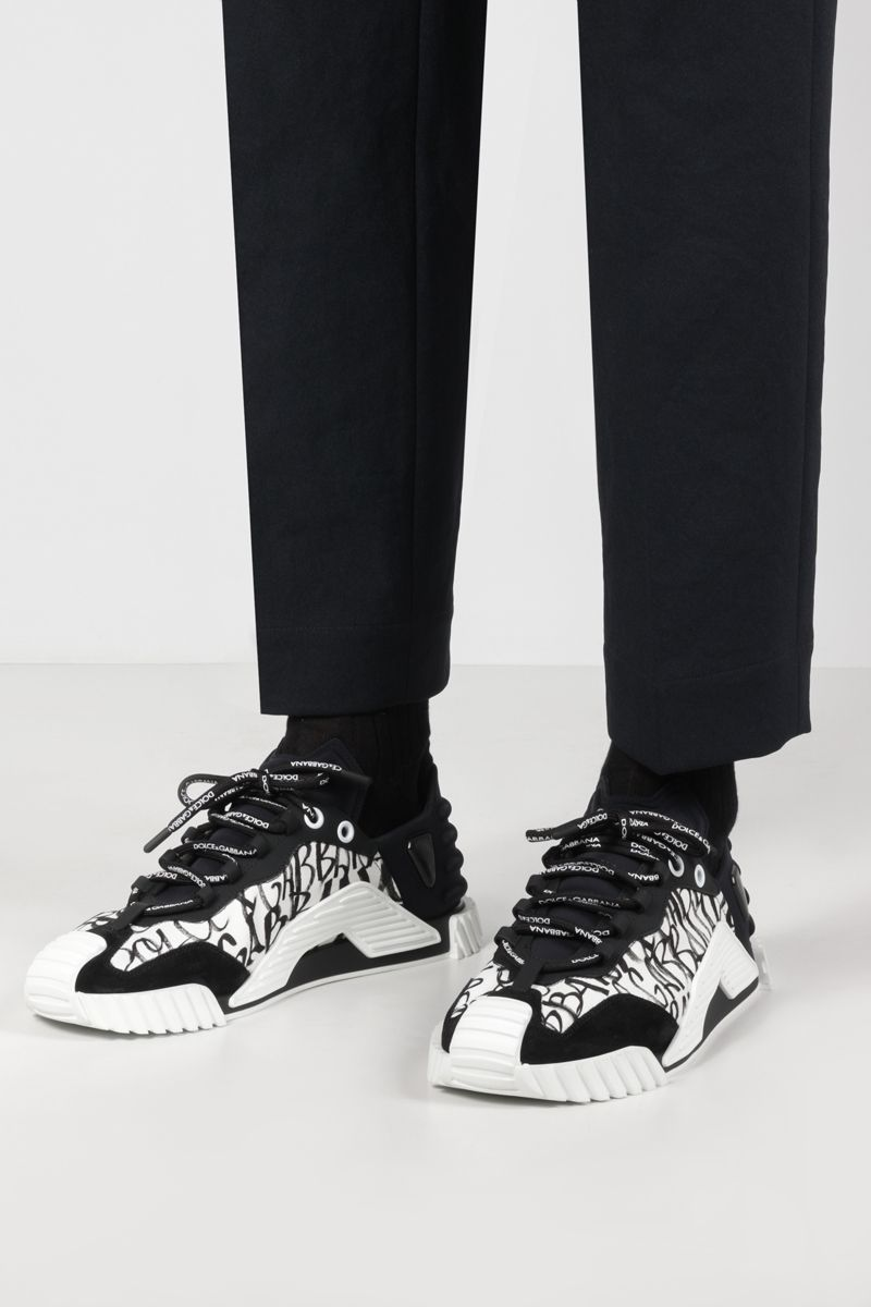 DOLCE & GABBANA: NS1 sneakers in a mix of materials Color White_2